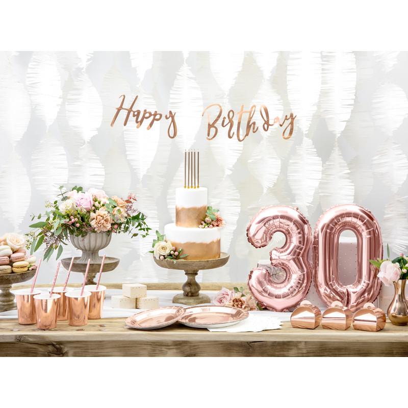 Bannière joyeux anniversaire Rose Gold , MaPlusBelleDeco.com