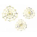 Confettis toiles d'araignées gold x3