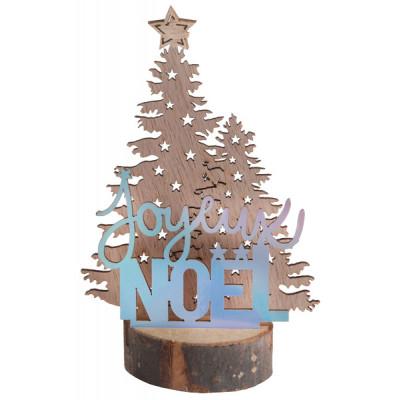 Décor joyeux Noël irisé