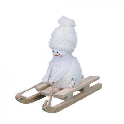 Bonhomme de neige sur luge