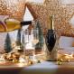 Habit pour bouteille pailleté or