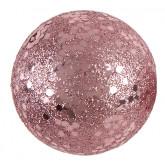 Boules pailletées Rose gold x10