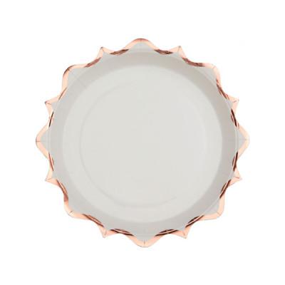 40th Anniversaire Décorations de fête rose argenté Vaisselle Assiettes Tasses Serviette Couverts