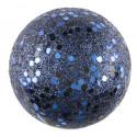 Boules pailletées Bleu roi x10
