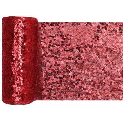Chemin de table sequin rose poudré