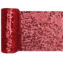 Chemin de table sequin rouge