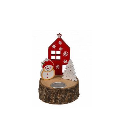 Bougeoir de Noël en bois