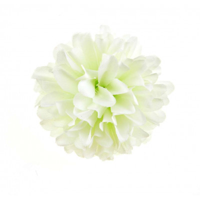 2 fleurs Mum blanc
