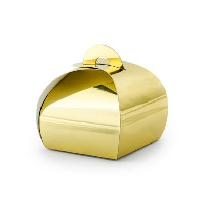 Boîtes or gold métal x10