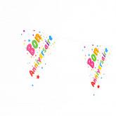 Guirlande fanions « Bon Anniversaire » multicolore