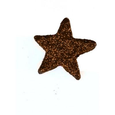 Etoiles pailletées (x12) chocolat