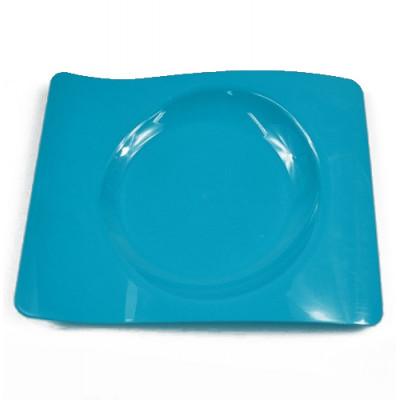 6 petites assiettes design turquoise