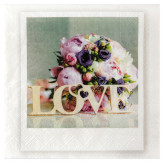 Serviette Wedding clic x20