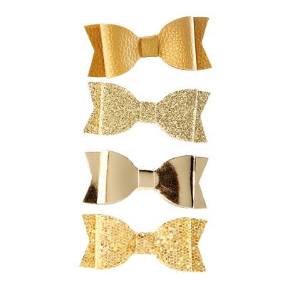 Noeuds or simili cuir x4