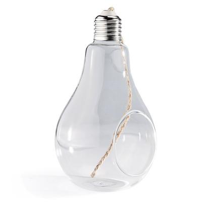 Ampoule en verre ouverte à suspendre