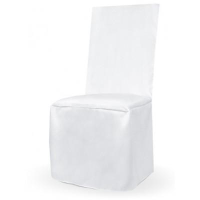 Housse de chaise satin blanc