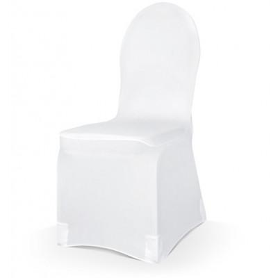 Housse de chaise élastique blanc