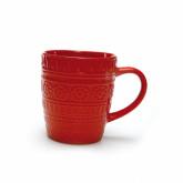 Mug rouge arabesque