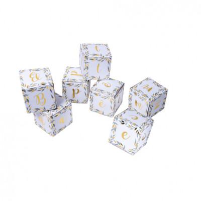 Cubes décoratifs végétal baptême x7