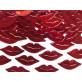 Confettis lèvres rouges rouge