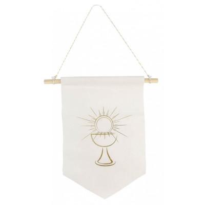 Fanion velour communion