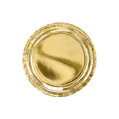 Assiette ronde Rose Gold x6