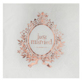 Serviettes Just Married rose gold x20