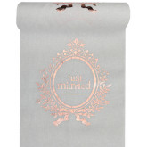 Assiettes Just Married rose gold x10