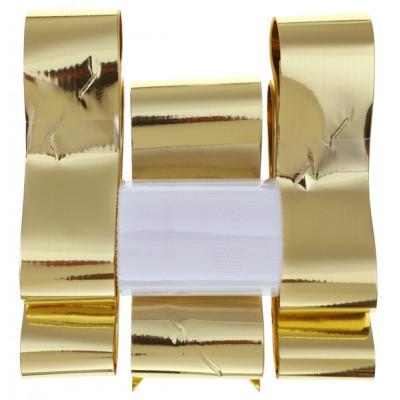 Kit noeud ruban métallisé argenté