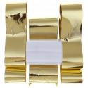 Kit noeud ruban métallisé or