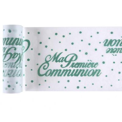 Chemin de table communion menthe