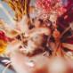 Bouquet plumeaux lagurus rose