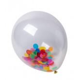 Ballon confettis multicolores x3