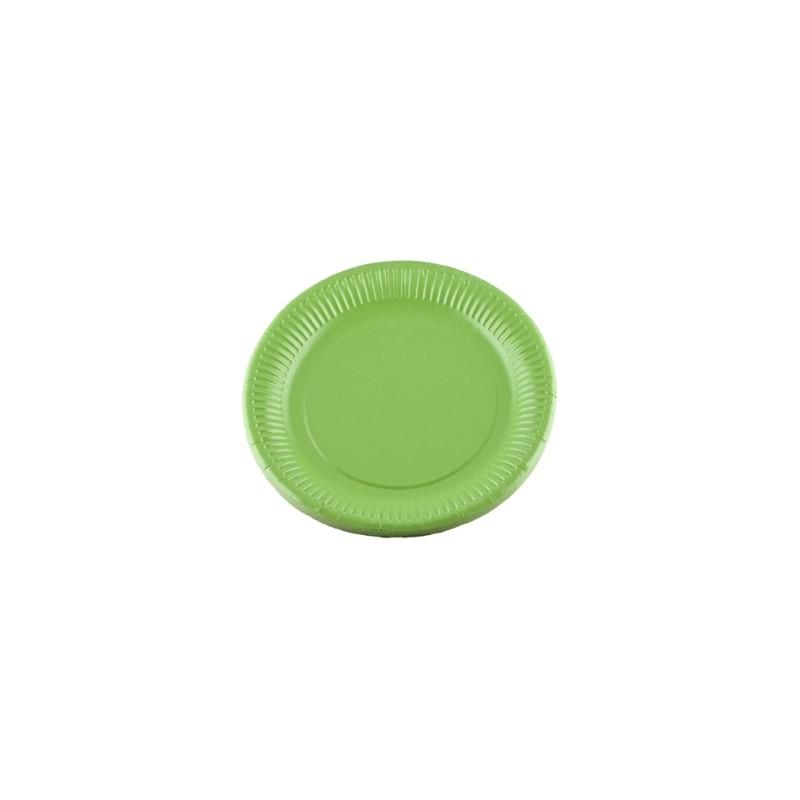 assiettes carton de couleur x20 vert kiwi. Black Bedroom Furniture Sets. Home Design Ideas