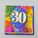 Serviettes anniversaire 30 (x16)