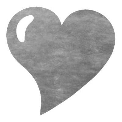 Sets de table coeur en non tissé gris (x50)