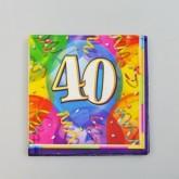 Serviettes anniversaire 40 (x16)