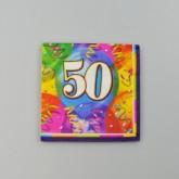 Serviettes anniversaire 50 (x16)