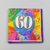 Serviettes anniversaire 60 (x16)