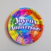 Assiettes J.anniversaire (x8)