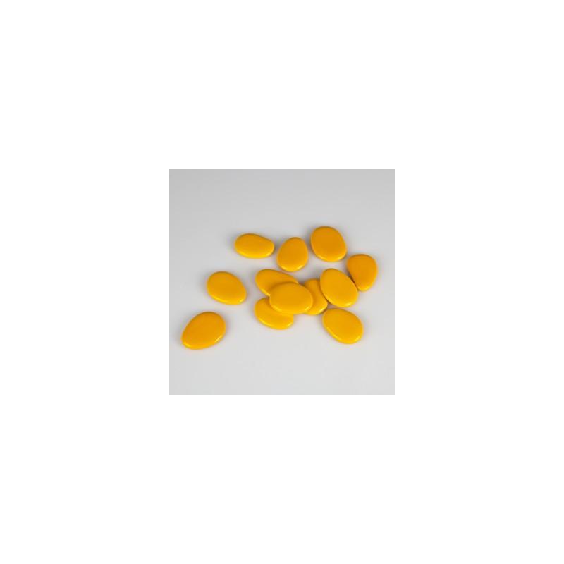 Galets de couleur x12 mandarine for Galets decoratifs de couleur