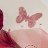 Dessous de verre papillons bordeaux