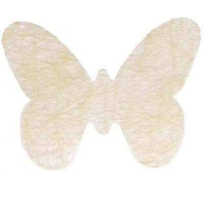 Dessous de verre papillons ivoire