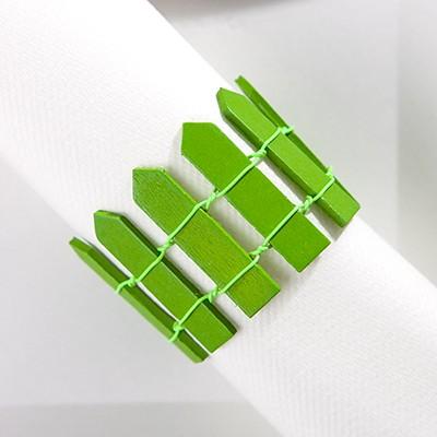 Mini palissade en bois vert anis