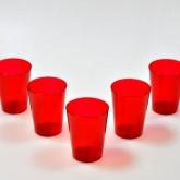 Gobelets en plastique estivaux (x6) rouge