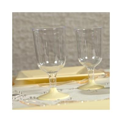 Verres à vin transparent ivoire (x8)