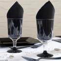 Verres à vin transparent noir (x8)