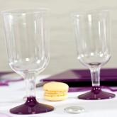 Verres à vin transparent prune (x8)