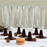 Flutes à champagne (x8) transparent chocolat