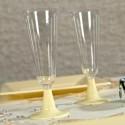 Flutes à champagne (x8) transparent ivoire
